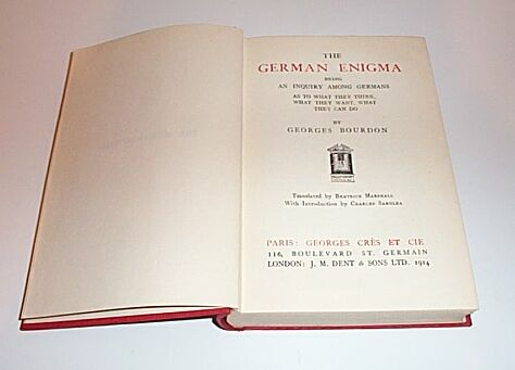 The German Enigma, Bourdon, Georges