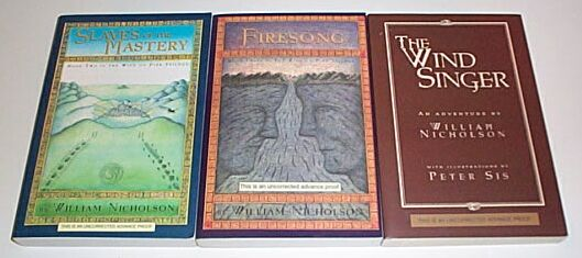The Wind Singer / Firesong / Slaves of the Mastery - 3 x Proof Copies, Nicholson, William